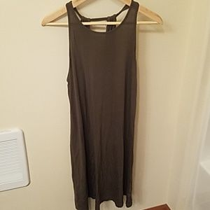 Gap halter tank dress in green